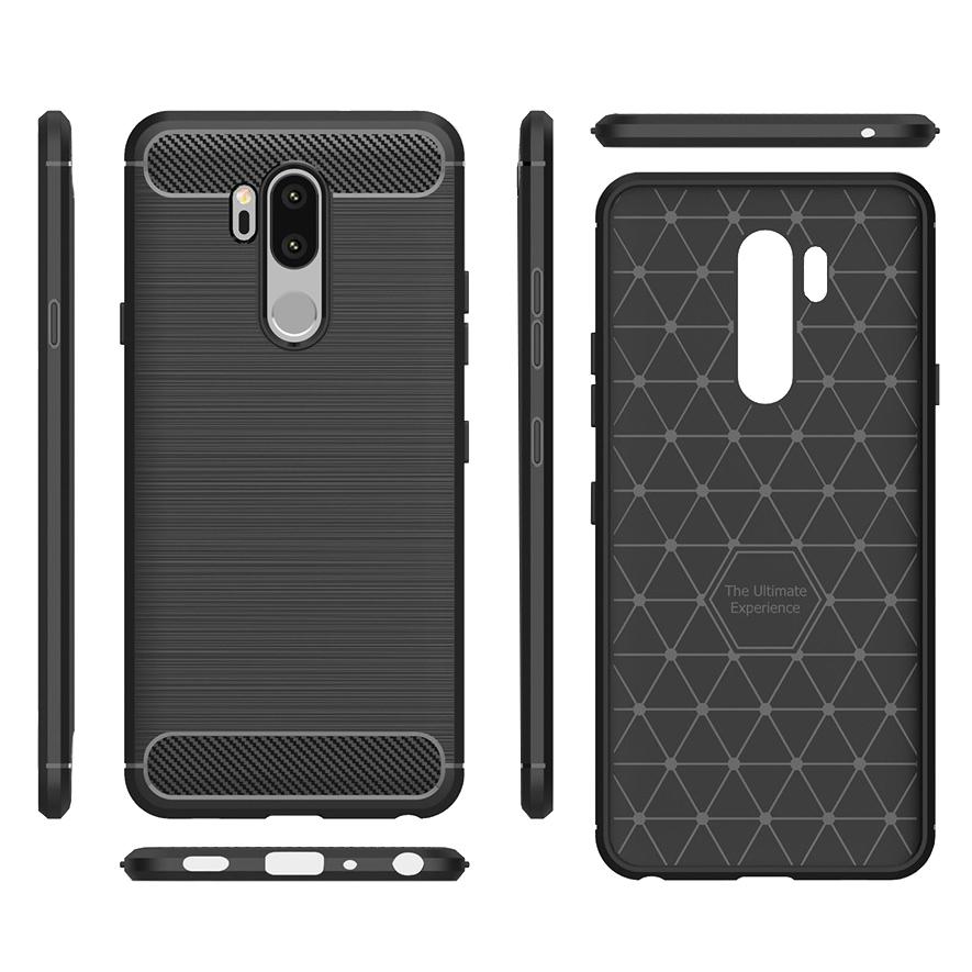 newest 9e2b1 4bbf5 Flexi Carbon Fibre Tough Case - LG G7 ThinQ (Black)